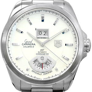 TAGHEUER Grand Carrera Calibre 8 GMT WAV5112.BA0901 남성용42.5mm 100m