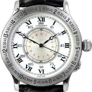 LONGINES Sport Legends Lindbergh Hour Angle Watch 남성용스틸 기계식자동 38mm L26014112
