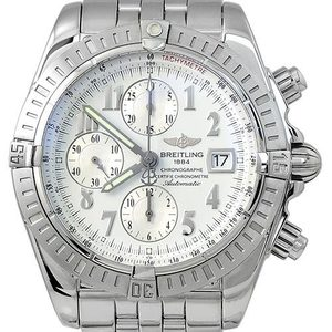 BREITLING Chronomat Evolution Chronograph Automatic남성용스틸 300m 44mm A1335611
