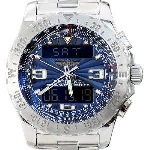 BREITLING Airwolf Quartz 남성용스틸+디지털 44mm A78363