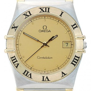 OMEGA Constellation 18K Half Bar 콤비구형남성용Quartz 32mm 1310.10