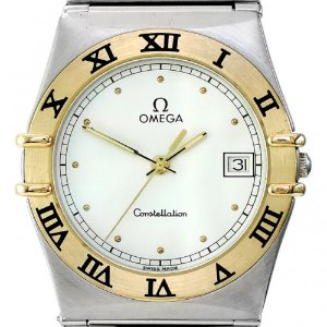 OMEGA Constellation Quartz 18K콤비남성용구형 엔틱 32mm 396 1070