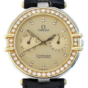 OMEGA Constellation Chronometer Quartz 18K콤비 다이아몬드 남여공용33mm