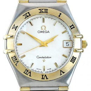 OMEGA Constellation harf bar 18k Quartz 남성용 33mm 1312.30