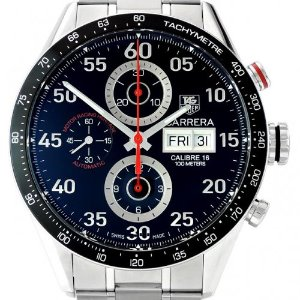 TAGHEUER Carrera 남성용스틸 크로노그라프 44mm Motor Racing Heritage-Italy Limited Edition CV2A1E.FC6301 300/150