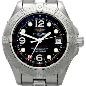 BREITLING SuperOcean Steelfish GMT Limited Edition 남성용스틸 1000m 42mm A32360(059/200)