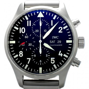 IWC Pilot`s Automatic Chronograph 남성용 스틸 43mm IW377709
