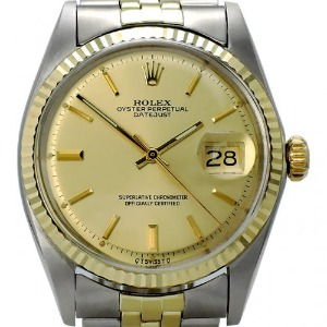 ROLEX Oyster Perpetual DateJust 14K콤비 남성용 기계식자동 36mm 1601 엔틱