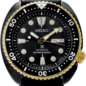 SEIKO Air Diver`s Automatic 200M Turtle Black Gold Special Edition 2019 남성용 45mm SRPD46K1