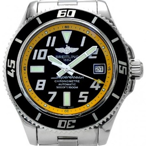 BREITLING SuperOcean 42 Chronometer Automatic 남성용스틸 1500m 42mm A17364