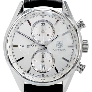 TAG Heuer Carrera Chronograph Calibre 1887 Automatic 남성용스틸 41mm 100m CAR2111-3