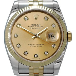 ROLEX Oyster Perpetual DateJust 18K콤비 남성용 기계식자동 36mm 116233G