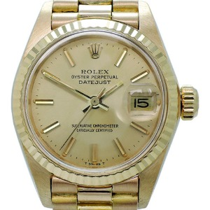 ROLEX Oyster Perpetual DateJust 18K여성용 기계식자동 26mm 6917 엔틱