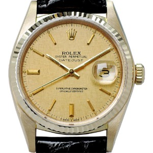 ROLEX Oyster Perpetual DateJust 18K 남성용 기계식자동36mm 16018