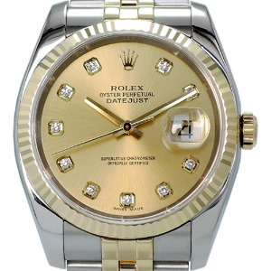 ROLEX Oyster Perpetual DateJust 18K콤비 남성용기계식자동 36mm 116233G