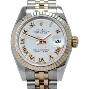 ROLEX Oyster Perpetual DateJust 18K Pink Gold 콤비 여성용 기계식자동26mm 179171