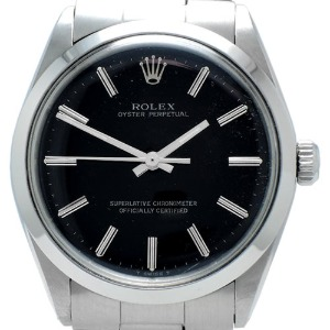 ROLEX Oyster Perpetual Automatic Non Date 남성용스틸 34mm 1002 엔틱