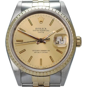 ROLEX Oyster Perpetual Date Just 18K콤비 남성용 기계식자동 35mm 15223 엔틱