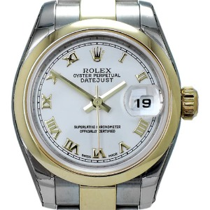 ROLEX Oyster Perpetual DateJust 18K콤비 여성용 기계식자동26mm 179163