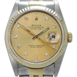 ROLEX Oyster Perpetual DateJust 18K콤비 남성용 기계식자동 36mm 16233G