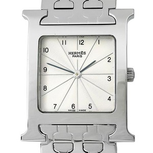 HERMES Heure H Steel Watch Quartz HH1.510 남성용스틸 26mm