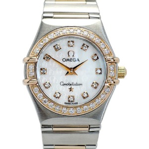 OMEGA Constellation`95 My Choice Mini Diamonds Quartz 여성용K18핑크콤비 22.5mm 1360.75