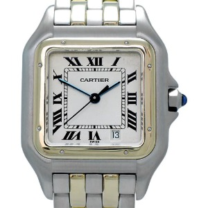 CARTIER Panthere Quartz 18K두줄콤비 남여공용27mm W25029