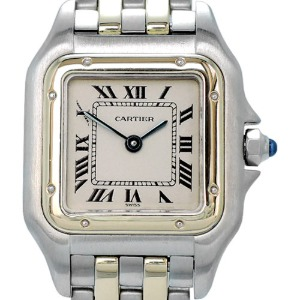CARTIER Panthere Quartz 18K두줄콤비 여성용 22mm W25029D6