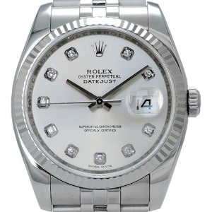ROLEX Oyster Perpetual DateJust 남성용스틸 기계식자동 36mm 116234G