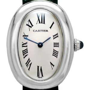 CARTIER Baignoire(베누아) 18K White Gold Quartz 여성용23mm 1955