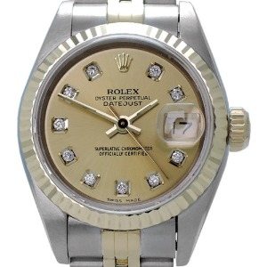 ROLEX Oyster Perpetual Date Just 18K콤비 여성용 기계식자동 26mm 69173