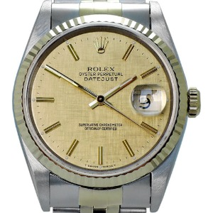 ROLEX Oyster Perpetual DateJust 18K콤비 남성용 기계식자동36mm 16233