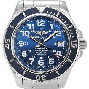 BREITLING SuperOcean II 42 Automatic Chronometer 남성용스틸42mm 500m A17365