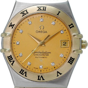 OMEGA Constellation Full Bar 11개Diamonds Automatic 18K콤비남성용35.5mm 1202.15 (장농급)