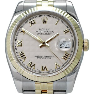 ROLEX Oyster Perpetual Date Just 18K콤비 남성용 기계식자동 36mm 116233