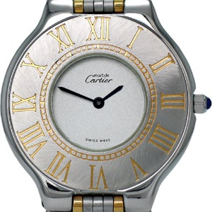 CARTIER Must 21 Quartz 콤비 남여공용 31mm 123 000P