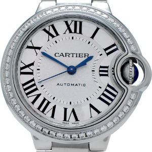 CARTIER Ballon Bleu de Cartier Automatic 여성용스틸+다이아몬드 33mm W4BB0016