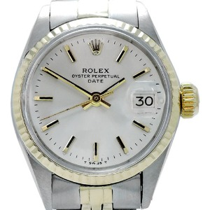 ROLEX Oyster Perpetual Date Automatic14K콤비 여성용 24mm 6517 엔틱