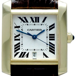CARTIER Tank Francaise Automatic 18K금통 남성용 28mm W5000156